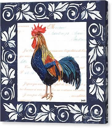 Indigo Rooster 2 Canvas Print by Debbie DeWitt