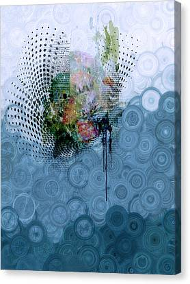 Indigo Splash Canvas Print by Georgiana Romanovna