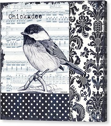 Indigo Vintage Songbird 2 Canvas Print by Debbie DeWitt