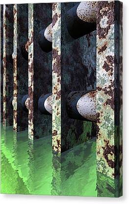 Industrial Disease Canvas Print by Richard Rizzo