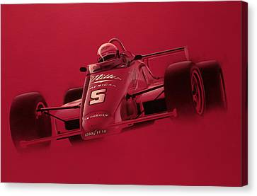 Indy Racing Canvas Print by Jeff Mueller