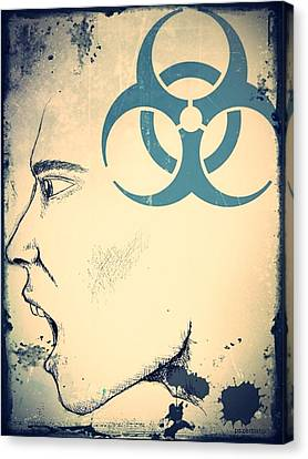 Infectious Substance Canvas Print by Paulo Zerbato