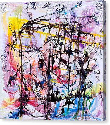 Information Network Canvas Print by Regina Valluzzi