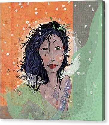 Inked Angel  Canvas Print by Dennis Wunsch