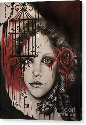 Inner Demons  Canvas Print by Sheena Pike