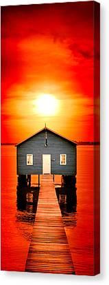 Blood Sunset Panorama Canvas Print by Az Jackson