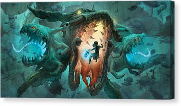 Inoculating The Water Dragon  Canvas Print by Ethan Harris
