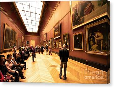 Inside Louvre Museum  Canvas Print by Charuhas Images