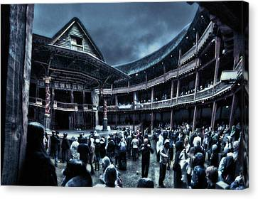 Inside Shakespeare's Globe Canvas Print by Rich Beer