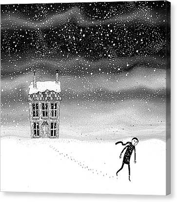 Inside The Snow Globe  Canvas Print by Andrew Hitchen