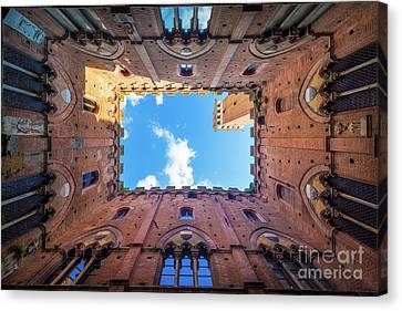 Inside The Tower Canvas Print by Inge Johnsson
