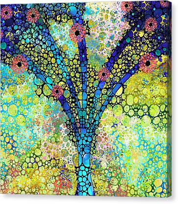 Inspirational Art - Absolute Joy - Sharon Cummings Canvas Print by Sharon Cummings