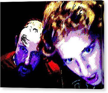 Intense Selfie Canvas Print by Brad Wilson