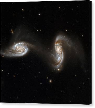 Interacting Galaxies Ngc 5257 And 5258 Canvas Print by Stsciaurahubble Collaborationa. Evans (university Of Virginia, Charlottesville;nrao;stony Brook University)nasa