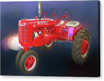 International Harvester Farmall Two Seat Tractor Canvas Print by John Haldane