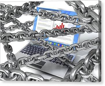 Internet Censorship, Artwork Canvas Print by David Mack