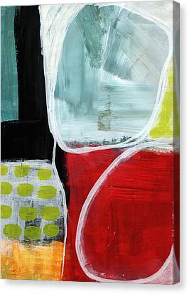 Intersection 37- Abstract Art Canvas Print by Linda Woods