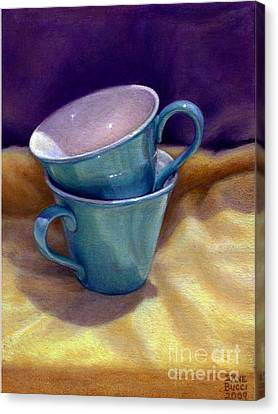 Into Cups Canvas Print by Jane Bucci