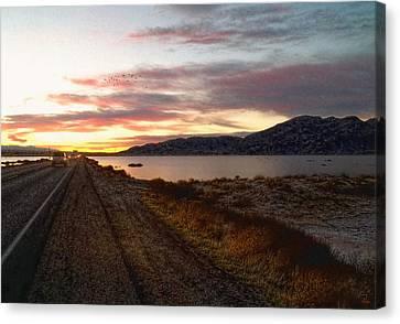 Into The Desert Dusk Canvas Print by Glenn McCarthy Art and Photography