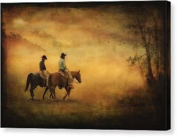 Into The Mist Canvas Print by Priscilla Burgers