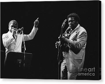 Introducing Bb King Canvas Print by Philippe Taka