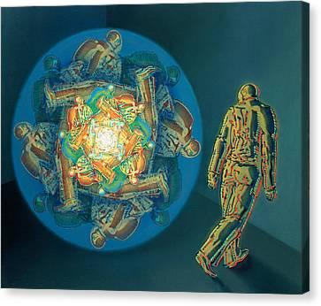 Introspection Canvas Print by De Es Schwertberger
