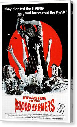 Invasion Of The Blood Farmers, Poster Canvas Print by Everett