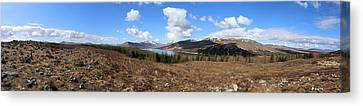 Invergarry Cairns Panorama Canvas Print by Victoria Whitehead