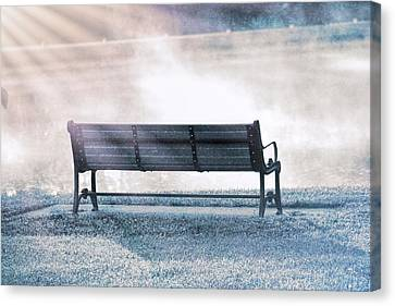 Inviting Morning Bench Canvas Print by Dan Sproul
