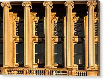 Ionic Columns Canvas Print by Todd Klassy