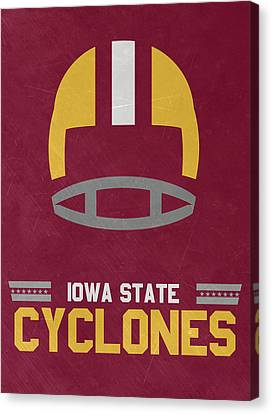 Iowa State Cyclones Vintage Football Art Canvas Print by Joe Hamilton