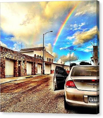 #iphone # Rainbow Canvas Print by Estefania Leon