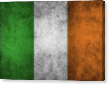 Ireland Grunge Flag Canvas Print by Dan Sproul