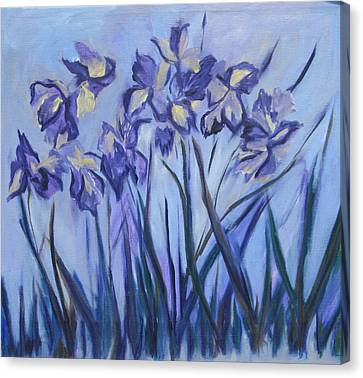 Iris Painting Two Canvas Print by Betty Pieper