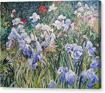 Irises Canvas Print by Andrey Soldatenko