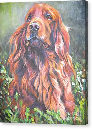 Irish Setter Canvas Print by Lee Ann Shepard