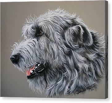 Irish Wolfhound Canvas Print by Daniele Trottier