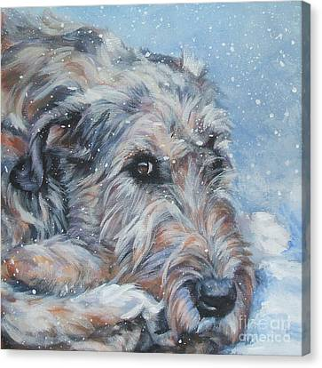 Irish Wolfhound Resting Canvas Print by Lee Ann Shepard