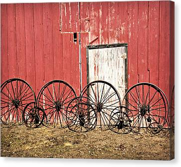 Iron Wheels Canvas Print by Kathy Krause