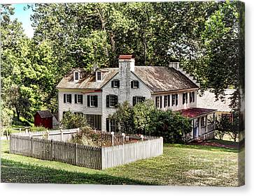 Ironmaster Mansion At Hopewell Furnace  Canvas Print by Olivier Le Queinec