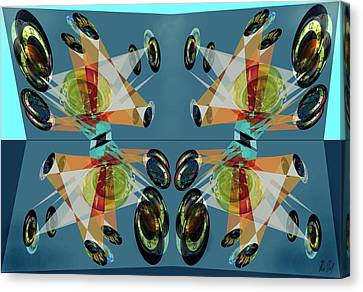 Irregular Mirrored Watches Canvas Print by Helmut Rottler