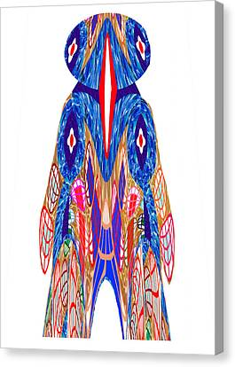 Is That A Head Or A Hat ??  Alien Fineart Graphic Whimsical Rohrshoc Abstract By Navinjoshi Canvas Print by Navin Joshi