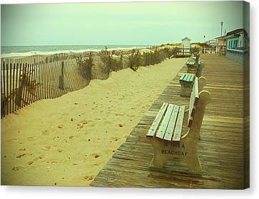 Is This A Beach Day - Jersey Shore Canvas Print by Angie Tirado