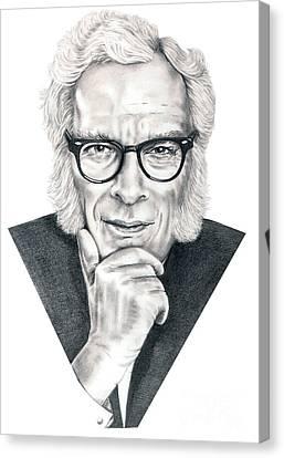 Isaac Asimov Canvas Print by Murphy Elliott