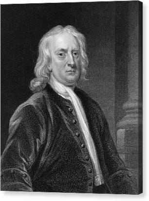 Isaac Newton Canvas Print by John Vanderbank