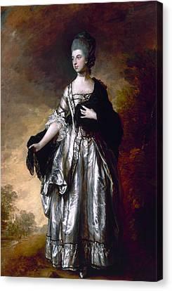 Isabella Viscountess Molyneux Later Countess Of Sefton Canvas Print by Thomas Gainsborough