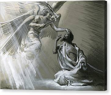 Isaiah's Vision Canvas Print by Frank Marsden Lea