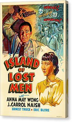 Island Of Lost Men 1939 Canvas Print by Mountain Dreams