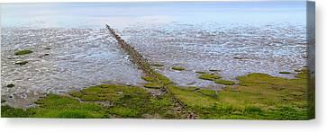 Island Sylt - Mudflat Canvas Print by Marc Huebner