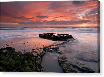Isle Of The Setting Sun Canvas Print by Mike  Dawson